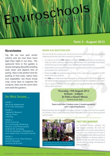 see our latest newsletter. - Enviro - Schools