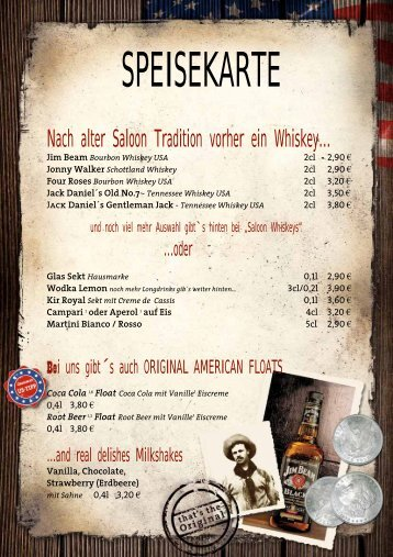 Nach alter Saloon Tradition vorher ein Whiskey… - Woodfire