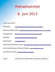 Midnattsolrittet 8. juni 2013