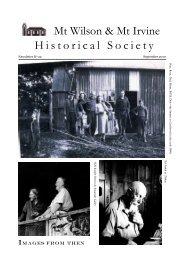 Historical Society Newsletter No. 22 - Sept 2010 - Mt Wilson