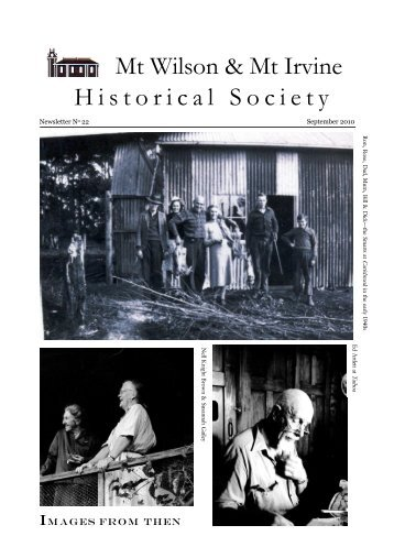 Historical Society Newsletter No. 22 - Sept 2010 - Mt Wilson