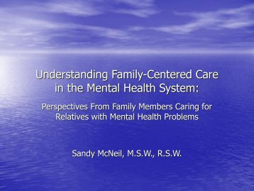 Understanding Family-Centered Care in the Mental Health System: