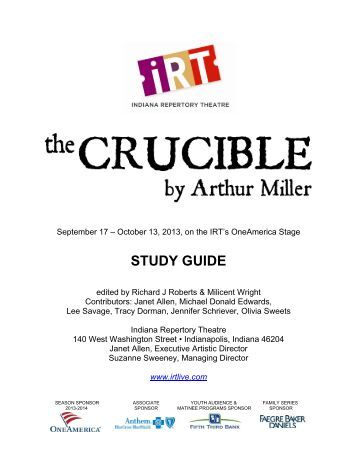 the crucible study guide act iv The crucible study guide act iv  topics: salem witch trials,  cjc 112 criminology exam iv study guide 1 social process theories suggest that crime is the end product of factors such as inappropriate socialization and social learning 2 conflict theories suggest that crime is the result of class struggle.