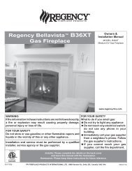 installation - Regency Fireplace Products