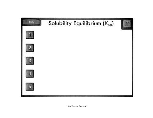 Solubility Equilibrium Ksp Mrdeakin