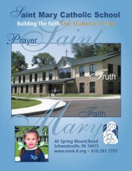 St. Mary School brochure - The Church of Saint Mary-Schwenksville ...