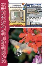 Großheubacher Nachrichten Ausgabe 18-2013 - STOPTEG Print ...