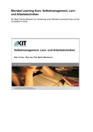 Blended Learning Kurs: Selbstmanagement, Lern- und ...
