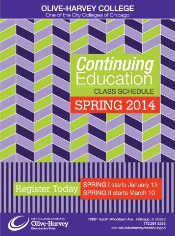 Spring 2014 Continuing Education Class Schedule