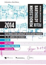 Felix Mendelssohn Bartholdy Hochschulwettbewerb