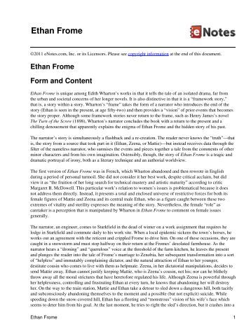 Ethan Frome what are some responsibilities Ethan is faced with?