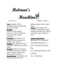 Newsletter wk 9 10-21-13 - Keller ISD Schools