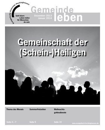 Gemeindebrief Heckinghasen 12/2013 + 01/2014 - Vereinigte ...