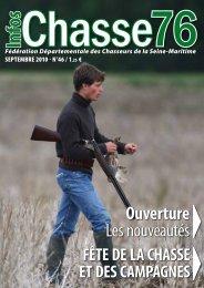 Infos Chasse 76 - Septembre 2010 - fédération départementale des ...