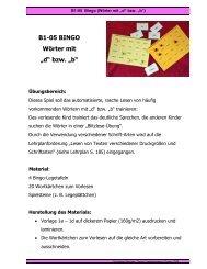 "B1-05 BINGO Wörter mit ""d"" bzw. ""b"""