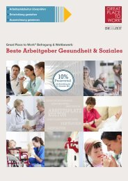 Beste Arbeitgeber Gesundheit & Soziales 2015 - Great Place to Work