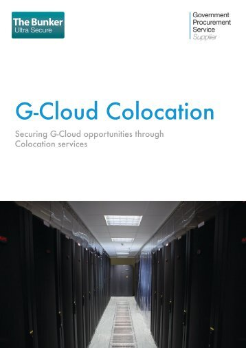 G-Cloud Colocation - The Bunker