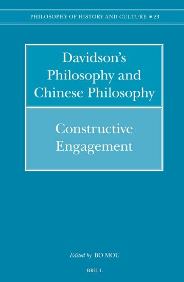 Davidson's Philosophy and Chinese Philosophy Constructive ...