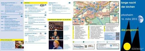 lange nacht der kirchen pforzheim 16. märz 2013 - Evangelische ...