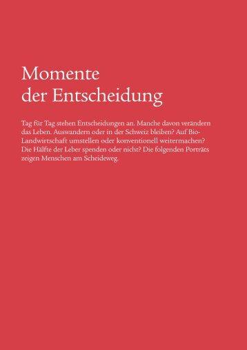 Momente der Entscheidung - Swiss Life - Online Report