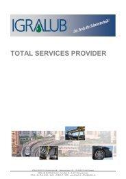 Broschüre TOTAL SERVICES PROVIDER - IGRALUB AUSTRIA GmbH