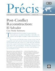 Post-Conflict Reconstruction: - Independent Evaluation Group ...