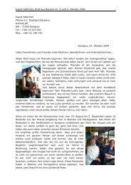 Brief aus Bosnien Nr. 9 (Oktober 2009) - Pharos eV