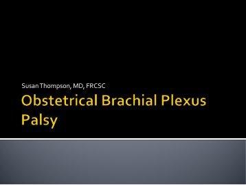 Brachial Plexus Injuries - CHU Sainte-Justine - SAAC