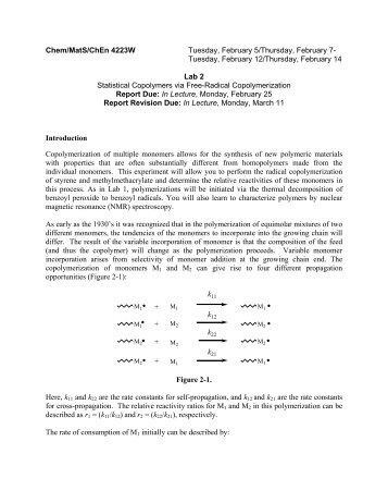 Chem/MatS/ChEn 4223W Tuesday, February 5/Thursday, February ...