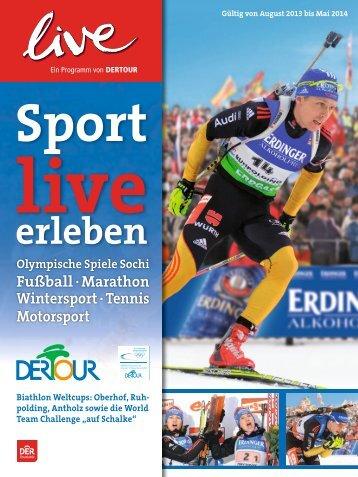 DERTOUR - Sport live erleben - 2014