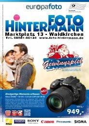 Kameras und mehr Weihnachtsprospekt als PDF - Foto Hintermann