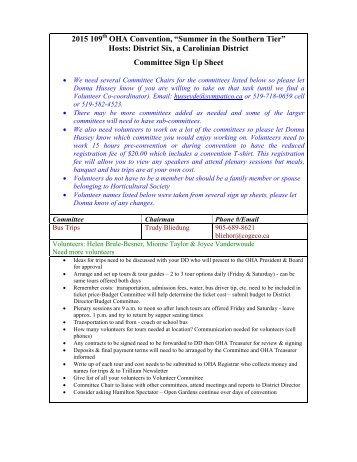 event volunteer sign in sheet