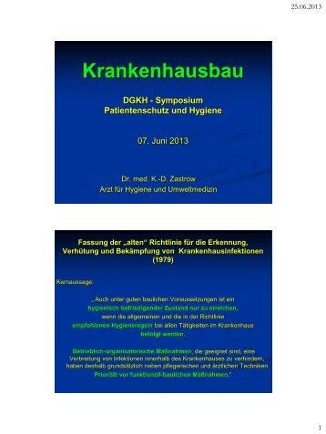 Krankenhausbau - Deutsche Gesellschaft für Krankenhaushygiene eV