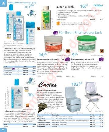 330 - 343 Sanitär, WC, Chemie - Camping Total