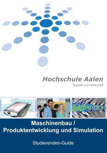 Informationsbroschüre für Studierende - Hochschule Aalen