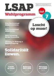 Wahlprogramm 2013 - LSAP
