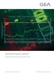 GEA Westfalia Separator varipond® Feststoffkonzentration sicher ...