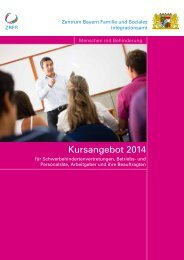 Kursangebot 2014 - Integrationsamt in Bayern