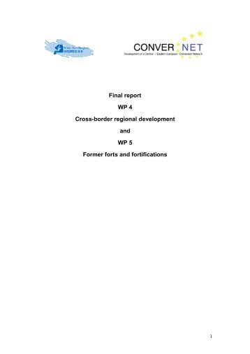 Final Report - WP 4: Cross-border regional development, WP 5