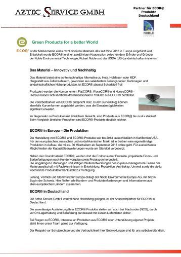 Green Products for a better World - Aztec-Service GmbH