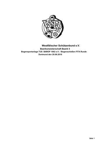 Westfälischer Schützenbund e.V. - SV-Stockum eV