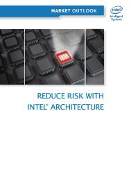 Reduce Risk with Intel® Architecture White Paper