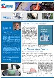 Ausgabe 2 2013 - Gießerei-Institut der RWTH Aachen