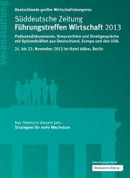 Download - Süddeutsche Zeitung Führungstreffen Wirtschaft 2013