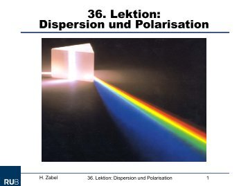 Dispersion Und Polarisation