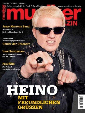 Archiv: Musiker Magazin 02/2013 - Musiker Online