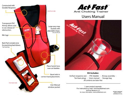 User's Manual - Act Fast Med