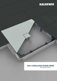 ESR II INSTALLATION SYSTEM FRAME - Kaldewei