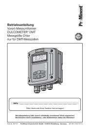 DULCOMETER® DMT - Messgröße Chlor nur für DMT ... - ProMinent