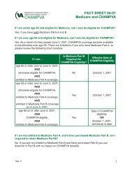 Fact Sheet 04-01 Medicare and CHAMPVA - US Department of ...